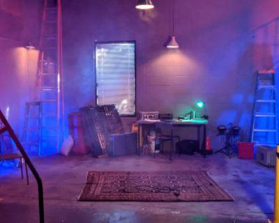 WAREHOUSE Grunge Bunker Base Police Thug Hideout Gang Workshop Hangout, Burbank, CA