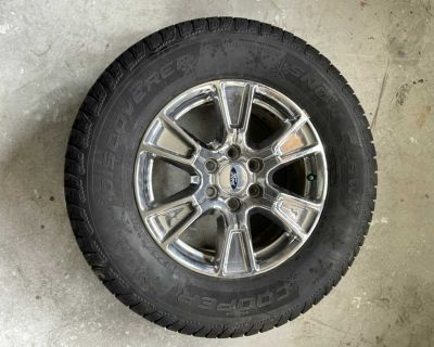 Cooper discover snow claw winter tire on Ford F-150 rims