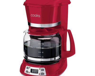12-Cup Programmable Coffee Maker (RED)