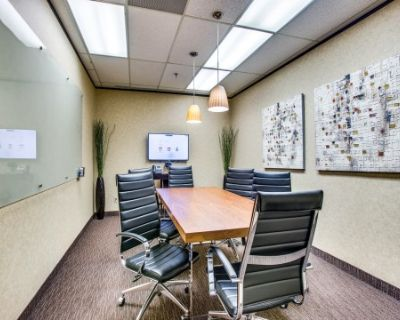 Corporate Meeting Room for 6 With Drop Down Projector, Dallas, TX