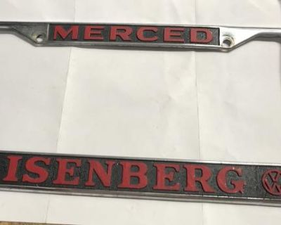 Merced CA Insenberg vw license plate frame