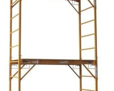New Condition-2 Platform (12 Ft.) Rolling Scaffolding Tower Plus Gated Safety Cage