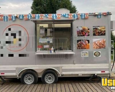 8' x 16' Food Concession Trailer with Commercial Kitchen and Pro-Fire Suppression for sale in Texas!