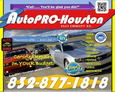 Transmission Repairs for LESS . . . a lot LESS at AutoPRO-Houston in Harris County TX