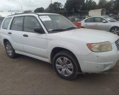 Salvage White 2008 Subaru Forester (natl)