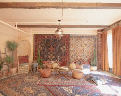 Downtown DTLA Sun Drenched Moroccan Desert Bohemian with Sand Floor, Los Angeles, CA