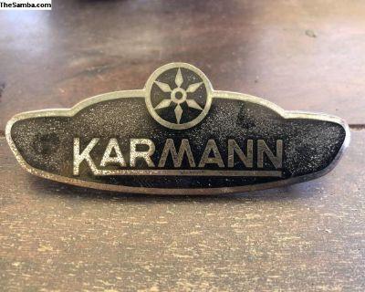 1961-1970 vw Karmann side body emblem