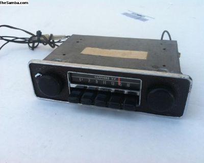 VW 1968 & Newer AM Sapphire XV Radio 12v