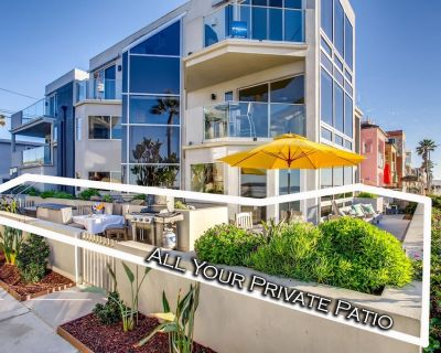 WOW! 180 OCEANFRONT VIEWS | HAS A/C | Beach Level Patio | FULL Kitchen |Reviews - Mission Beach