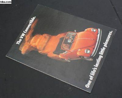1974 Convertible Beetle Brochure Advertisement