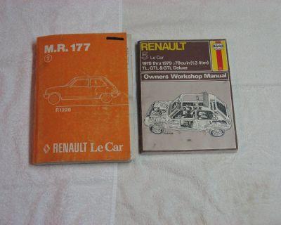 Renault Le Car (1976-1979) Workshop and M.R. 177 R1228 Manuals