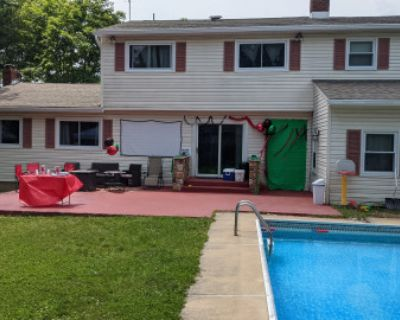 Backyard Space with a Pool & Projector, Trenton, NJ