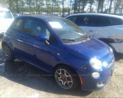 Salvage Blue 2012 Fiat 500