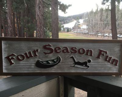 Four Season Fun- Big Bear Ski and Lake Vacation- Ski, Swim, Paddle, Sled, Bike. - Moonridge