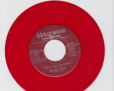 DEL-RIOS ~ Just Across The Street *Mint-45*RARE RED WAX !