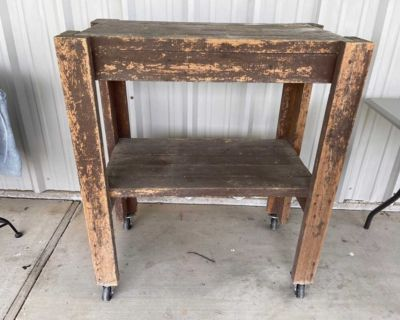 Great Heavy Duty Shop Table on Wheels, Made Out of All 2x4 Lumber