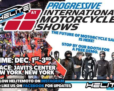 Helite at the New York City Progressive International Motorcycle Show