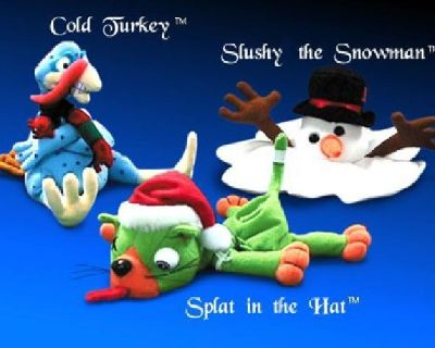 $10 Shocking Stuffers Christmas Meanies set of 3: Slushy the Snowman, Splat in the H