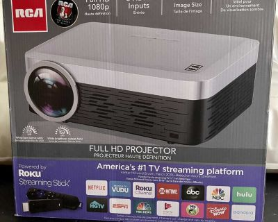 Limited Time Sale RCA Full HD 1920*1080 Smart Roku WiFi Home Theater Projector/RPJ138