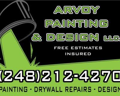 Home refinishing, drywall repair, professional painting