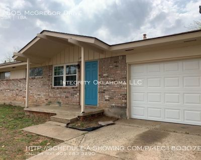 3 Bed 1 Bath in Midwest City: 1505 McGregor Drive