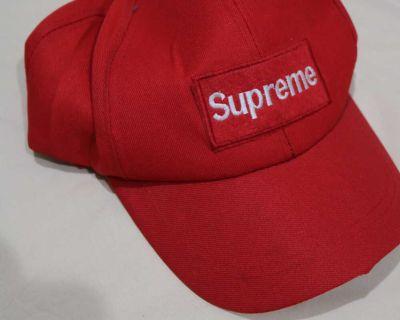 Red Supreme Baseball Hat