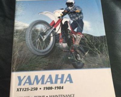 Yamaha Xt125-250 Motorcycle Manual Euc Clymer 1980-84 Service Repair Maintc M417