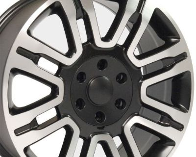 """20"""" Fits Ford Expedition Wheels Matte Black Machined Set Of 4 20x8.5 Rims B1w"""