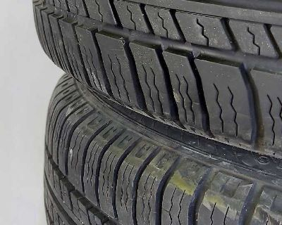 MICHELIN 205-70 R14 4 tires and rims 5-100 bolt pattern as is