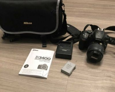 Nikon D3400 w/lens and accessories
