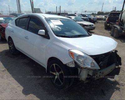 Salvage White 2012 Nissan Versa