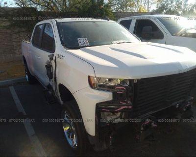 Salvage White 2020 Chevrolet Silverado 1500