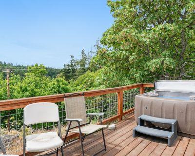 New listing! Sunset studio with stunning views & hot tub - dog-friendly! - Deer Harbor