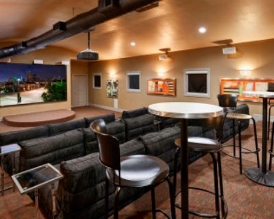 Downtown-Adjacent Modern Theater Room with Stage and Ample Seating, Dallas, TX