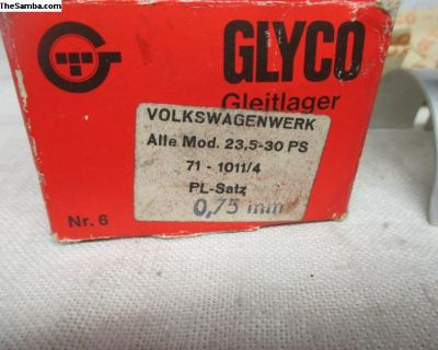 NOS Glyco .75mm Rod Bearing Set 40hp-53hp