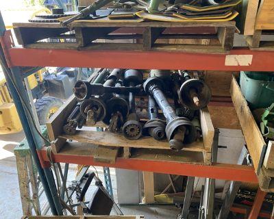 Pallets of miscellaneous John Deere Header parts