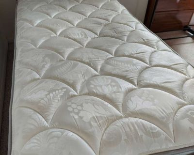 Twin mattress comes with box spring and bed frame
