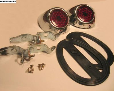 Split/Heb 49-50 Chrome Tailllight Set