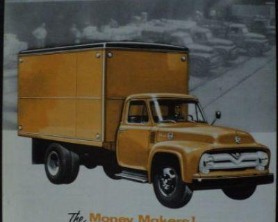 1955 Ford Truck Series F 500 Stake Tank Dump Garbage Cargo Van Sales Brochure