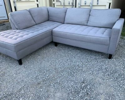 1 year old grey sectional