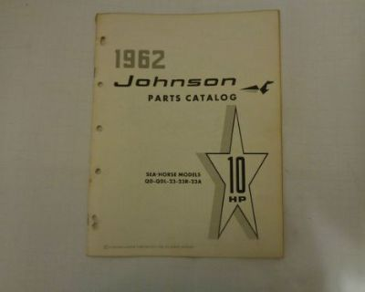 1962 Johnson Parts Catalog 10 Hp Motors @@@check This Out@@@