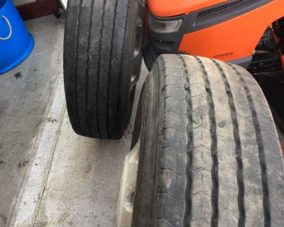 2 Truck rims with tire
