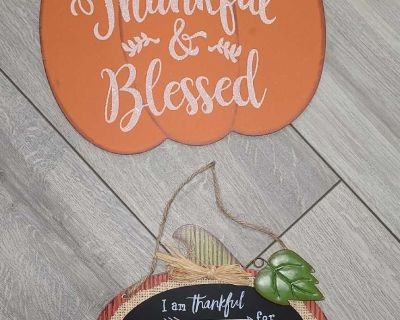 New Fall/Thanksgiving chalkboard sign and wall decor
