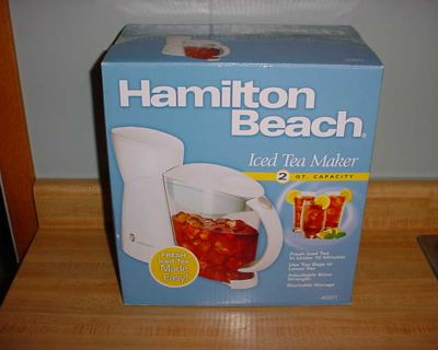New Hamilton Beach 2-Quart Capacity Electric Iced Tea Maker. Brews Up A Pitcher Full Of Iced Tea In Less Than 10 Minutes. Simply Add...