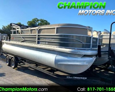 Used 2016 Sun Tracker Party Barge 20 DLX Pontoon Boat w/60HP 4 Stroke Command Thrust