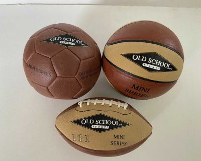Old School Sports Mini Series Leather Ball Collectibles
