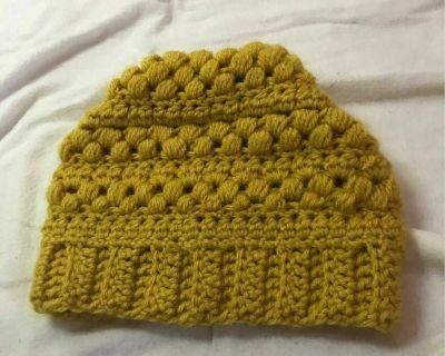 Handmade Yellow Knit Beanie