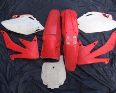 04 05 06 07 Honda Crf 450r Plastic Kit Fenders Shrouds Side Panels Fender