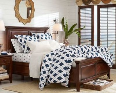 Pottery Barn Mahogany Bedroom Set + Mattress