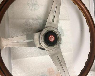 Vintage GENUINE Nardi Wood Steering Wheel